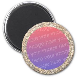 cobblestone photo frame magnet