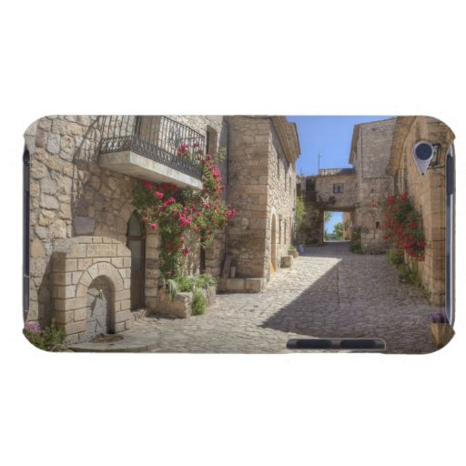 Cobblestone street, stone buildings, historic iPod touch case
