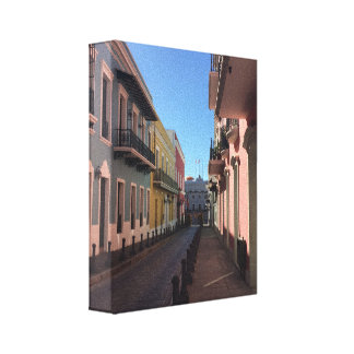 Cobblestone Streets Historical Old San Juan Canvas Print