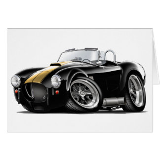 Cobra Black-Gold Car Card