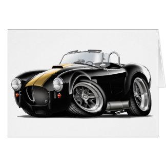 Cobra Black-Gold Car Greeting Cards