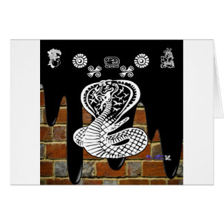 COBRA BRICK BACKGROUND PRODUCTS GREETING CARD