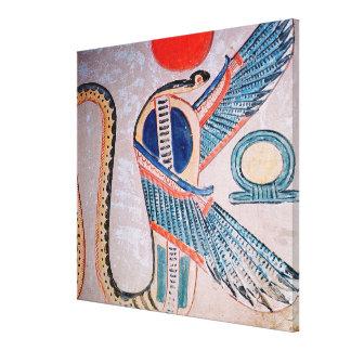 Cobra god, Egyptian Canvas Print