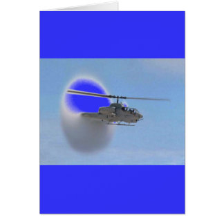 cobra helicopter greeting card