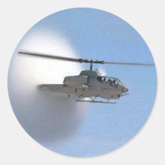 cobra helicopter round sticker