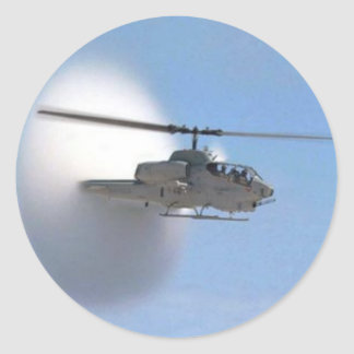 cobra helicopter classic round sticker