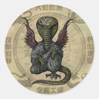 cobra monster round sticker