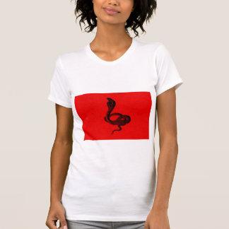 Cobra on Red Cool Animal Design Tshirt