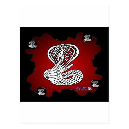 COBRA RED BACKGROUND PRODUCTS POSTCARD
