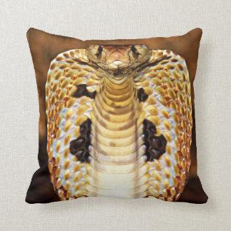 Cobra Snake Hooded / Fire Blazing Editable! Cushion