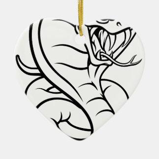 Cobra Snake Viper Mascot Ceramic Ornament
