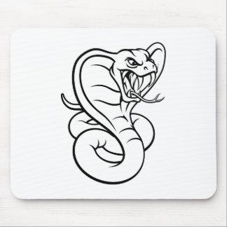 Cobra Snake Viper Mascot Mouse Pad