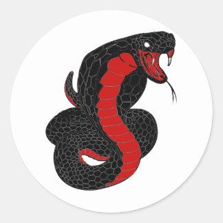 cobra round sticker
