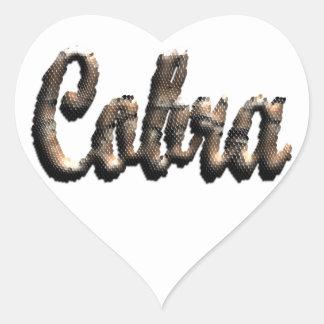 Cobra - threedimensional snake skin text - heart sticker