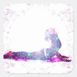Cobra Universe Yoga Pose Series Square Sticker