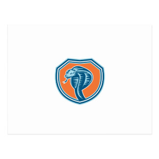 Cobra Viper Snake Head Shield Retro Post Cards