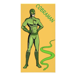 Cobraman photo card