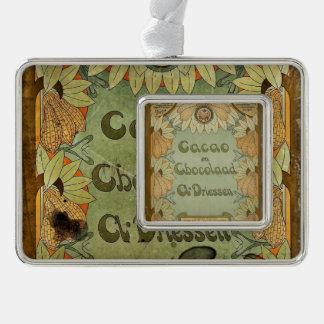 Cocao en Chocolaad Dutch Silver Plated Framed Ornament