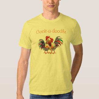 Cock-a-doodle by SHARON SHARPE Shirts