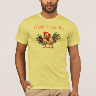 Cock-a-doodle by SHARON SHARPE T-Shirt