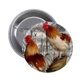 Cock-a-doodle-do Buttons