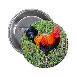 Cock-A-Doodle-Do 6 Cm Round Badge