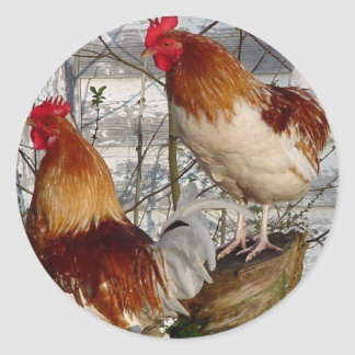 Cock-a-doodle-do Round Sticker