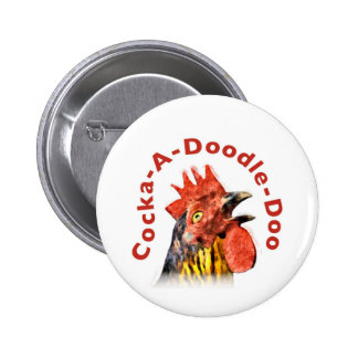 Cock-A-Doodle-Doo Rooster Pins