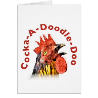 Cock-A-Doodle-Doo Rooster Greeting Cards