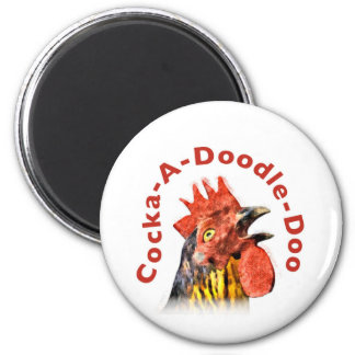 Cock-A-Doodle-Doo Rooster Fridge Magnet