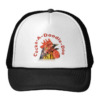 Cock-A-Doodle-Doo Rooster Mesh Hat