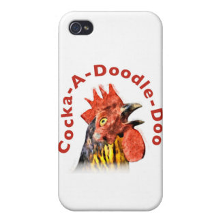 Cock-A-Doodle-Doo Rooster iPhone 4/4S Cases