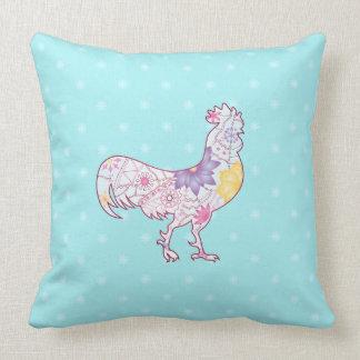 cock-a-doodle-doo throw pillow