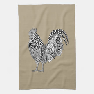 Cock-a-doodle Rooster Kitchen Towel