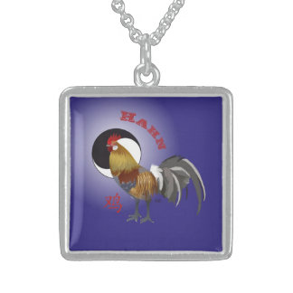 Cock Chinese asterisk necklace