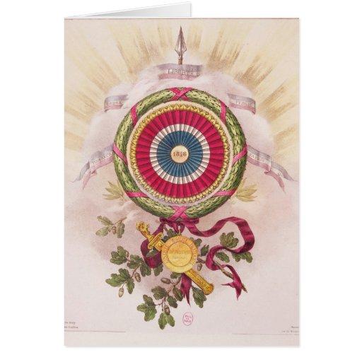 Cockade, emblem of 1848 cards