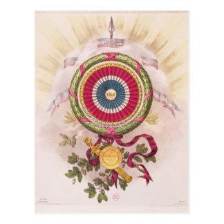Cockade, emblem of 1848 postcard