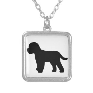 Cockapoo Dog Silver Plated Necklace