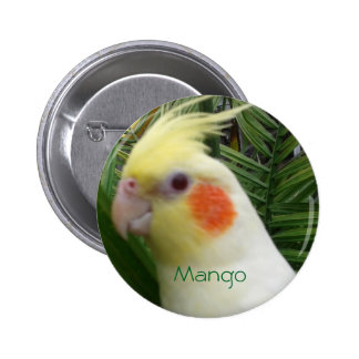 Cockatiel 6 Cm Round Badge