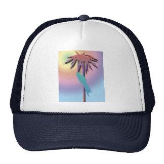Cockatiel and Palm Tree Digital Art Cap