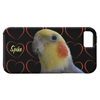Cockatiel Bird and Hearts iPhone 5 Covers