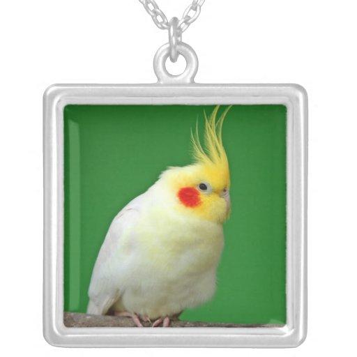 Cockatiel bird beautiful photo pendant, necklace