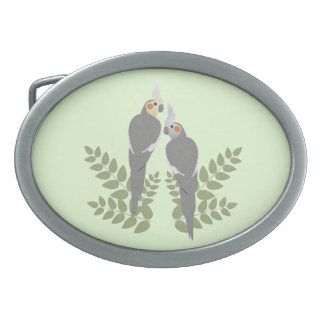 Cockatiel Couple Belt Buckle