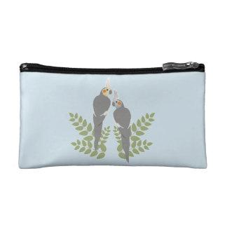 Cockatiel Couple Cosmetic Bag