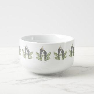Cockatiel Couple Soup Mug