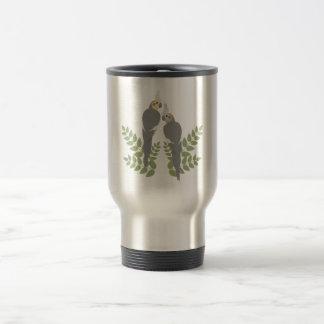 Cockatiel Couple Travel Mug