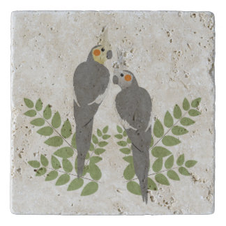 Cockatiel Couple Trivet