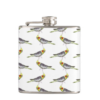 Cockatiel Frenzy Hip Flask (choose colour)