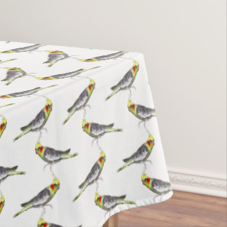 Cockatiel Frenzy Tablecloth (choose colour)