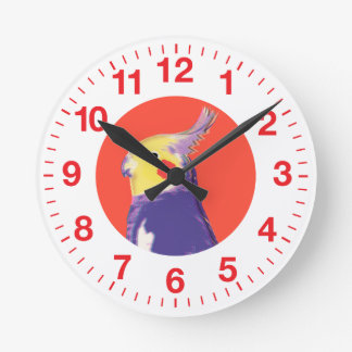 Cockatiel Pop Art Clock